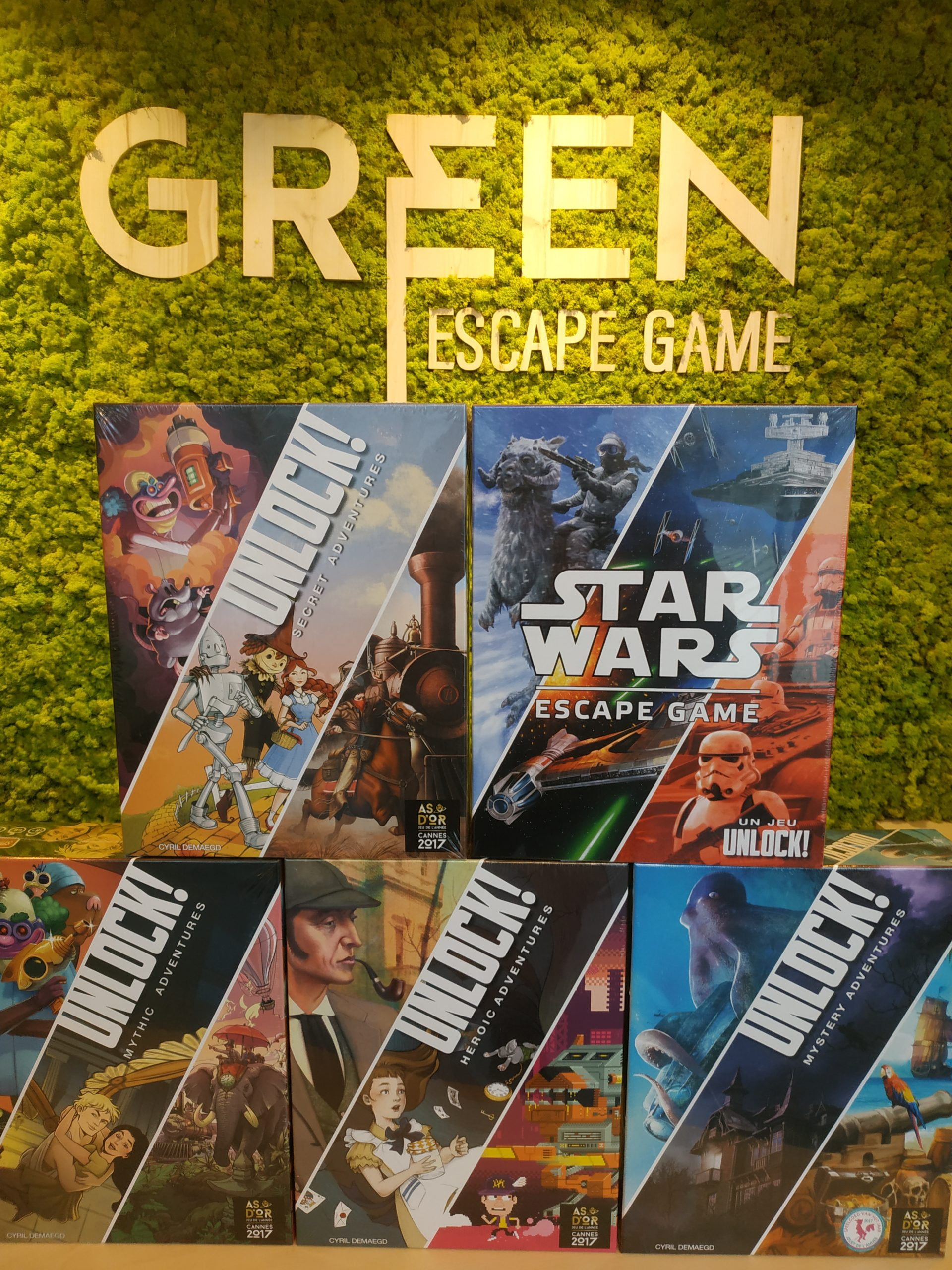 Exposition et ventes de jeux THE GREEN ESCAPE GAME